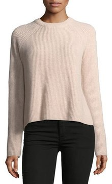 360 Sweater 360Sweater Bianca Crewneck Ribbed Cashmere Sweater