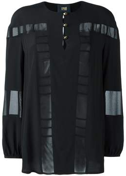 Class Roberto Cavalli sheer panel blouse