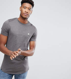 Le Breve TALL Logline Curved Hem Twill Shoulder T-Shirt