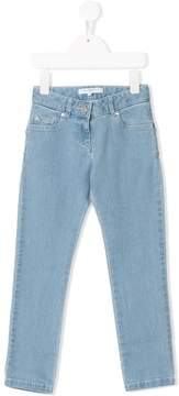 Givenchy Kids star patches skinny jeans
