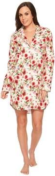 BedHead Long Sleeve Classic Flannel Night Shirt Women's Pajama