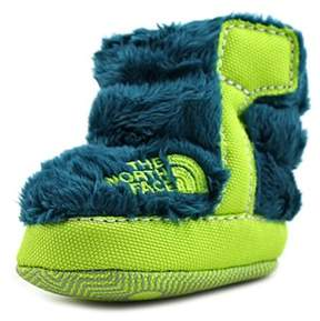 The North Face Fleece Bootie Infant Round Toe Faux Fur Green Bootie.