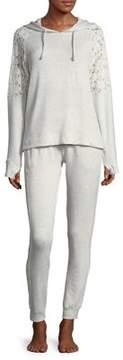 Flora Nikrooz Heathered Lace Pajamas