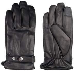 Dockers Men's InteliTouch Leather Touchscreen Gloves