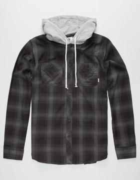 Element Turner Mens Hooded Flannel Shirt