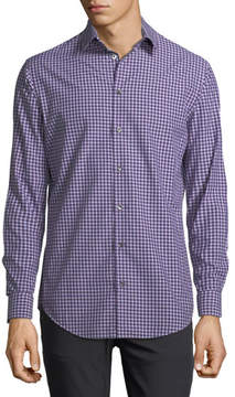 Giorgio Armani Variegated Gingham Dress Shirt