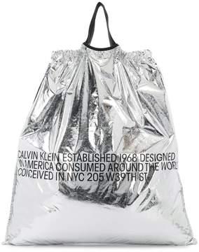 Calvin Klein metallic shopper bag