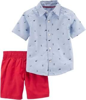 Carter's Baby Boys Nautical Shorts Set