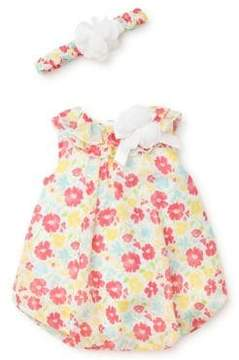 Little Me Baby Girl's Two-Piece Floral Dress and Headband Set