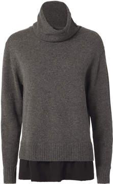 Joseph Silk Trim Cashwool Sweater