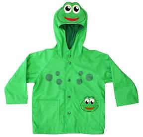 Western Chief Toddler Boy Frog Rain Coat Green