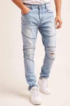 21men 21 MEN Young & Reckless Moto Jeans