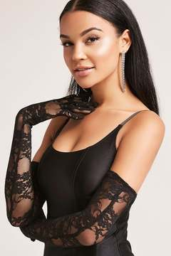 FOREVER 21 Sheer Lace Opera Gloves