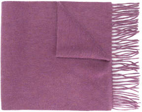 N.Peal cashmere fringed scarf
