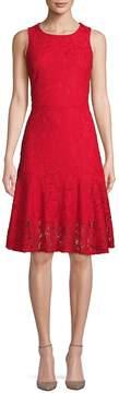 ABS by Allen Schwartz Women's Floral Lace A-Line Dress