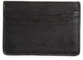 A.P.C. Men's Andre Textured Leather Card Case - Black