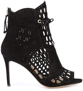Rachel Zoe embroidered lace-up boots