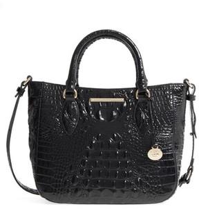 Brahmin Melbourne - Small Lena Leather Satchel - Black