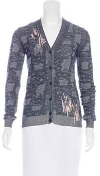 Bottega Veneta Embroidered Knit Cardigan