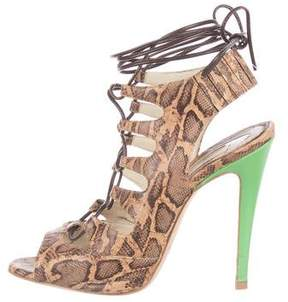 Brian Atwood Tie Me Up Lace-Up Sandals
