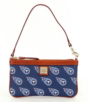 Dooney & Bourke NFL Collection Tennessee Titans Large Slim Wristlet - NAVY - STYLE