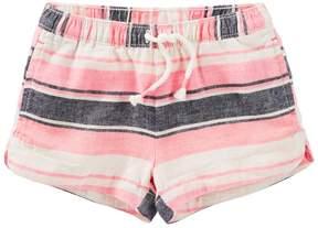 Osh Kosh Girls 4-8 Striped Linen-Blend Shorts