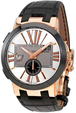 Ulysse Nardin Executive Dual Time 18 Carat Rose Gold Automatic Men's Watch