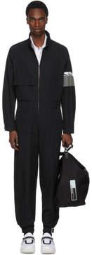 Prada Black Zip-Up Jumpsuit