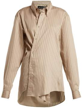 Martine Rose Oversized tonal-striped shirt