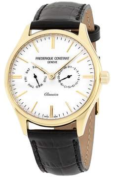 Frederique Constant Classics FC259BST5B5 Gold Tone Stainless Steel & White Dial 39mm Mens Watch