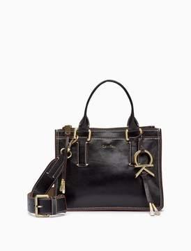 Calvin Klein leather zip satchel