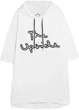 The Upside Embroidered Cotton-jersey Hooded Top - White