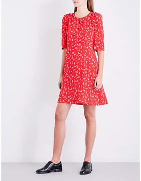 Claudie Pierlot Paisley-print crepe mini dress