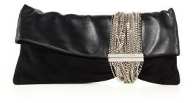 Jimmy Choo Chandra Leather Mini Chain Clutch