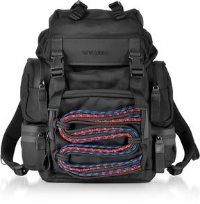 DSQUARED2 Akira Small Black Fabric Men's Backpack