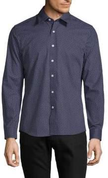 Hyden Yoo Printed Slim-Fit Cotton Button-Down Shirt