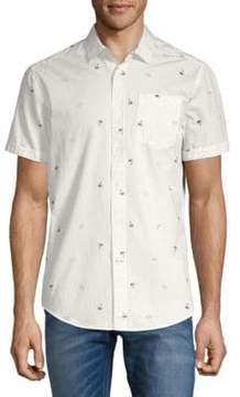 Report Collection Sunglass-Print Cotton Button-Down Shirt