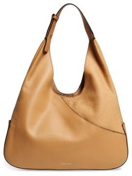 Louise Et Cie Large Sonye Leather Hobo Bag - Beige