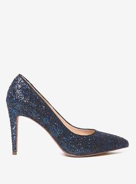 Dorothy Perkins Cobalt Glitter 'Emily' Court Shoes