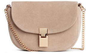 H&M Suede Shoulder Bag - Beige