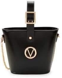 Mario Valentino Alain Leather Bucket Bag