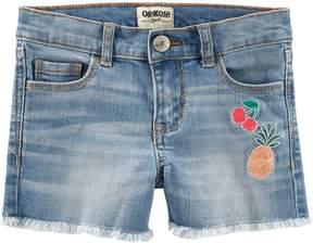 Osh Kosh Oshkosh Bgosh Toddler Girl Fruit Frayed-Hem Denim Shorts
