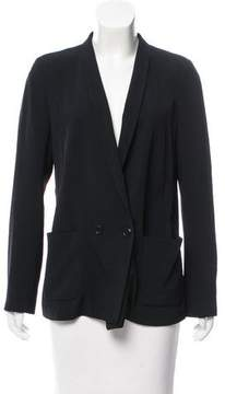Closed Double-Breasted Shawl-Lapel Blazer