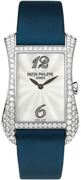 Patek Philippe Serata 4972G 18K White Gold with Diamond 27.4mm Womens Watch