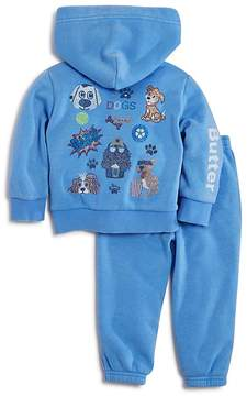 Butter Shoes Girls' Embellished I Love Dogs Hoodie & Jogger Pants Set - Little Kid