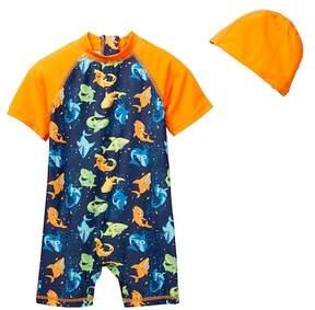 Trunks Envya Swimwear Shark Sunsuit Set (Baby & Toddler Boys)