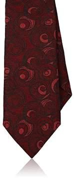 Isaia Men's Swirl-Print Wool Necktie