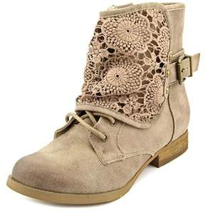 Not Rated Crunchy Crunch Women Round Toe Synthetic Tan Ankle Boot.