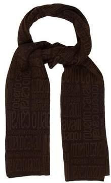 Roberto Cavalli Wool Blend Printed Scarf
