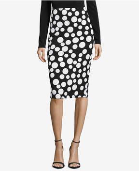 ECI Printed Pencil Skirt